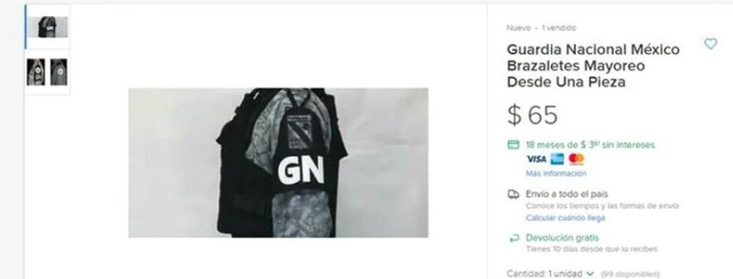 Investigan venta de uniformes falsos de la Guardia Nacional