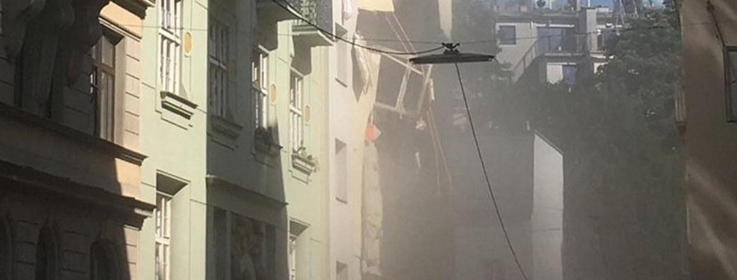 Colapso de dos edificios en Viena deja varios heridos