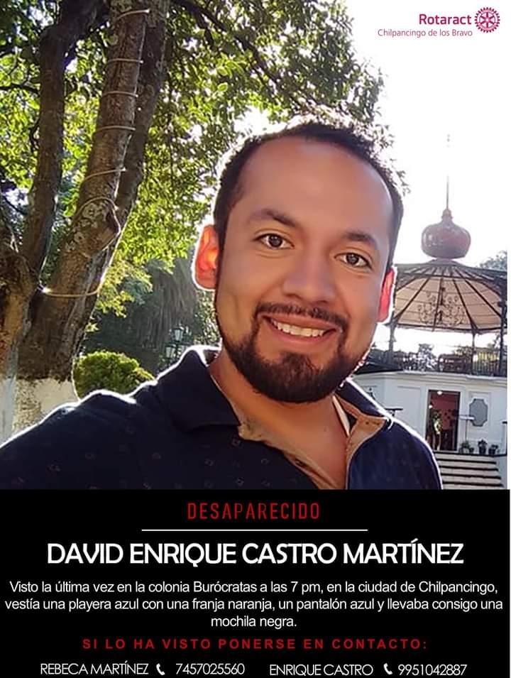 joven desaparecido en Chilpancingo