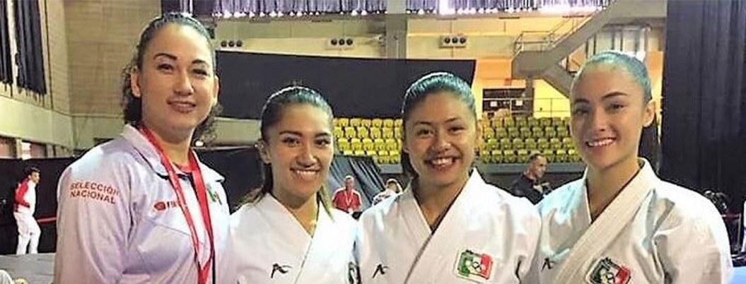 Karatecas mexicanos ganan plata y bronce en Serie A en Montreal