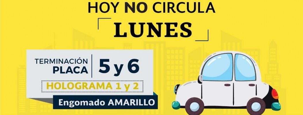 Lunes no circulan autos con engomado amarillo, y placas 5 y 6