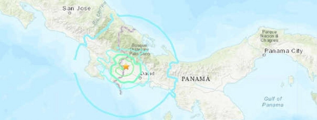Fuerte sismo sacude zona fronteriza entre Panamá y Costa Rica