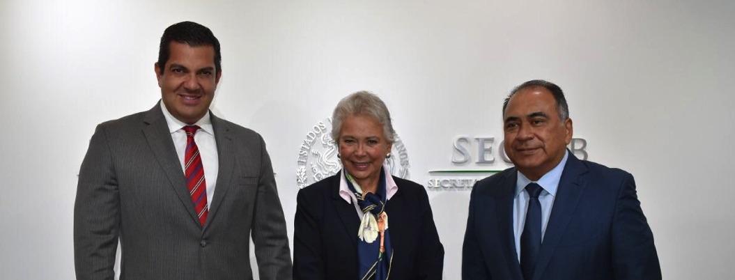 Astudillo se reúne con Olga Sánchez para tratar tema de fertilizantes