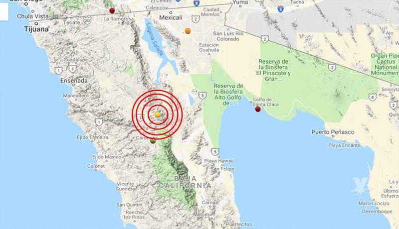 Se registra sismo de 7.1 en EU; se percibe en Baja California