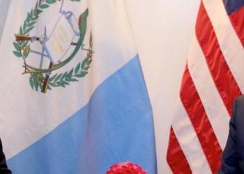 Jimmy Morales y Donald Trump