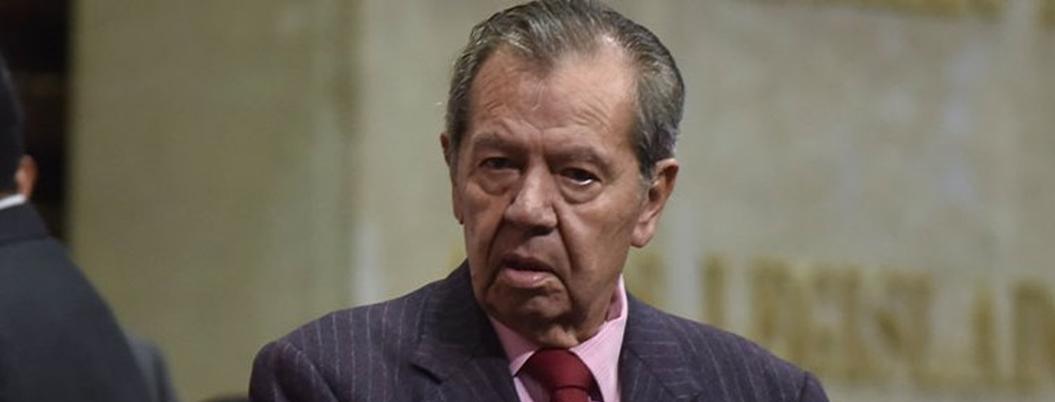 Muñoz Ledo despotrica contra su bancada: hipócritas, les grita