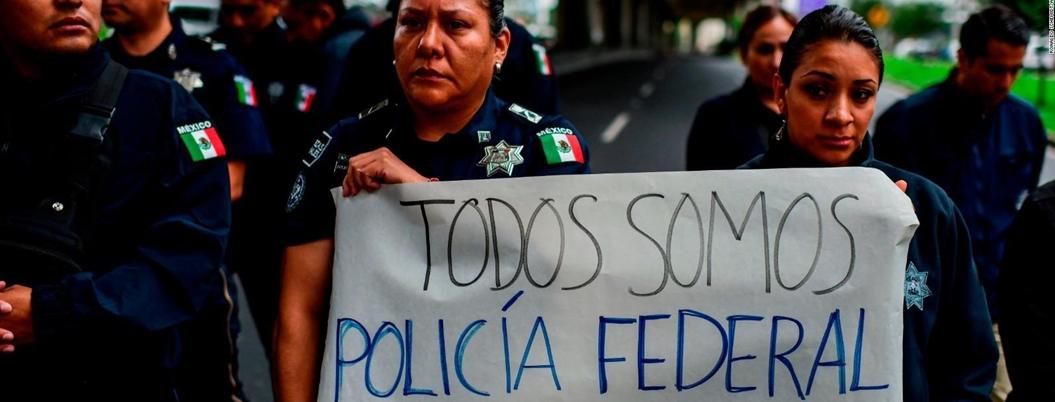 """""""Protesta de PF incrementará la violencia en México"""": empresarios"""