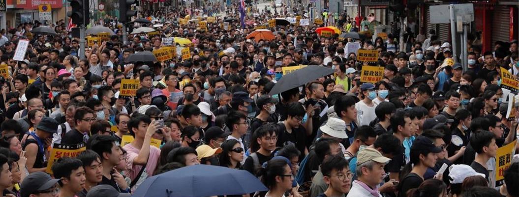 Hong Kong protesta contra los comerciantes de China