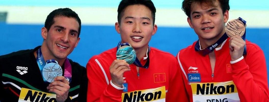 Rommel Pacheco gana plata en Mundiales de Natación