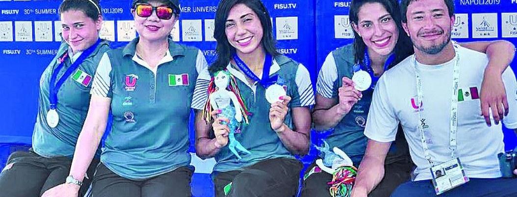 México se lleva 11 medallas en clavados en Universidad de Nápoles