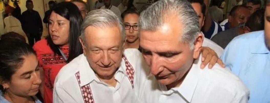 Adán Augusto presume supuesta baja de incidencia delictiva ante Obrador