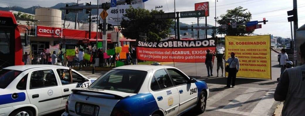 Astudillo abandona a concesionarios del Acabús; cierran la Cuauhtémoc