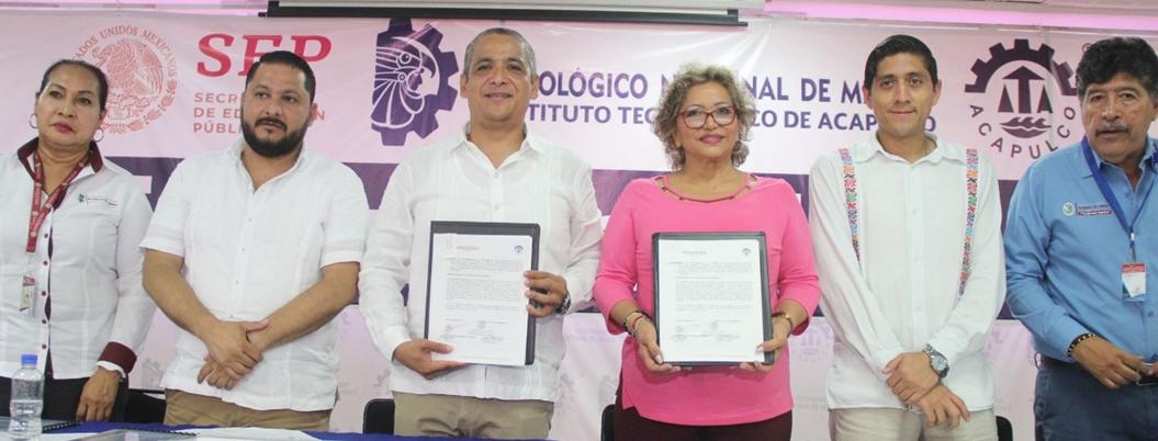 Adela Román firma convenio con ITA para servicio social de estudiantes