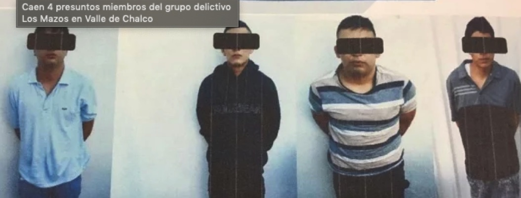 Detienen a cuatro presuntos miembros de Los Mazos en Chalco