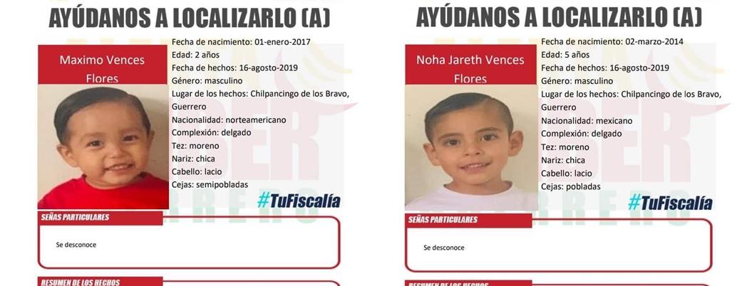 Desaparecen dos niños en Chilpancingo