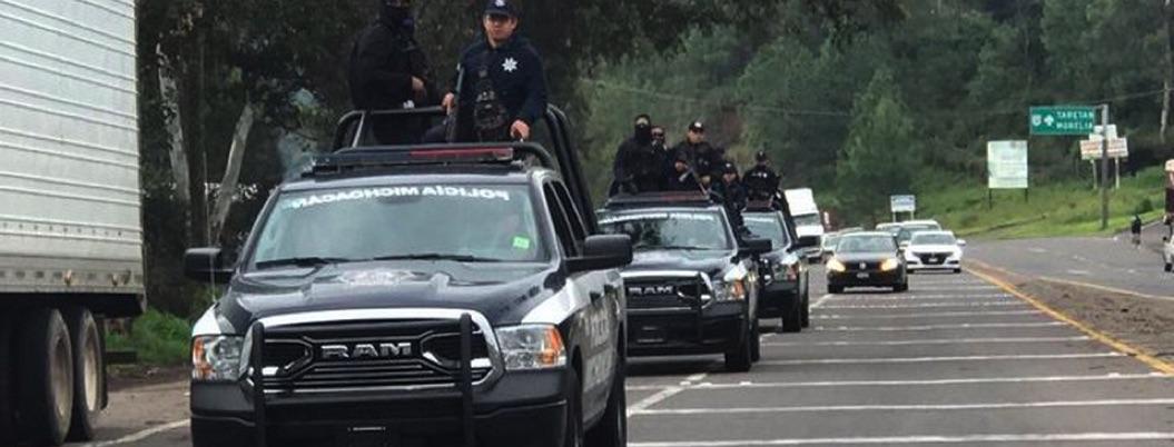 Despliegan a 120 policías más en Michoacán ante violencia desbordada