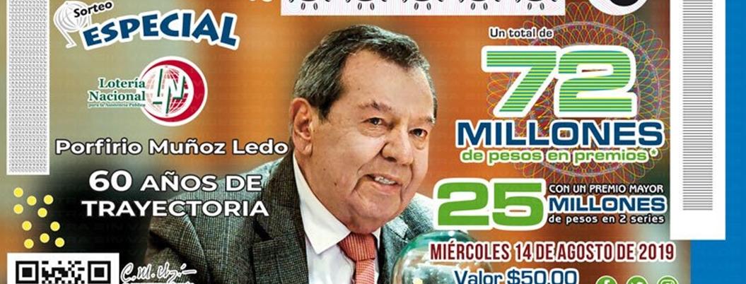 Porfirio Muñoz Ledo ya tiene su billetito de Lotería