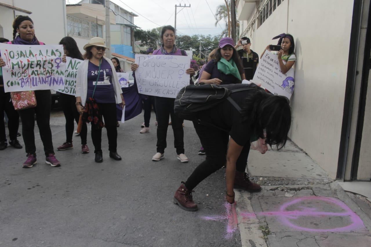 Protesta feminista en Chilpancingo 2
