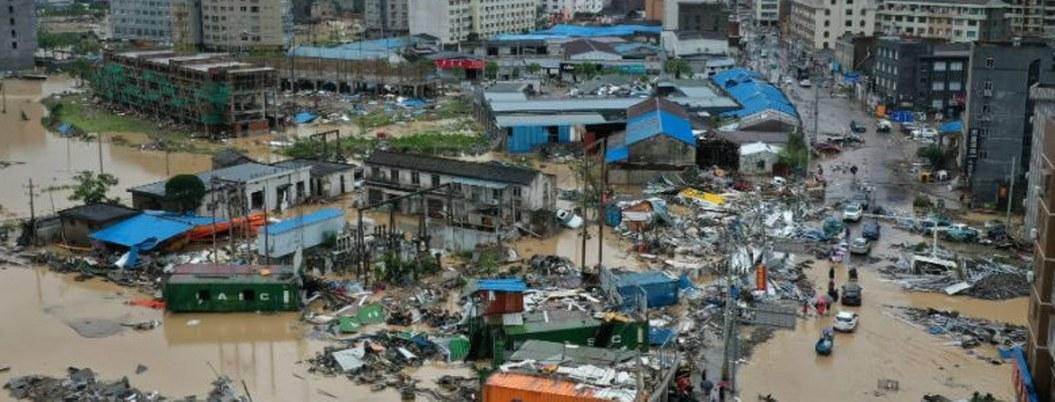 Aumenta a 44 cifra de muertos por paso de tifón Lekima en China
