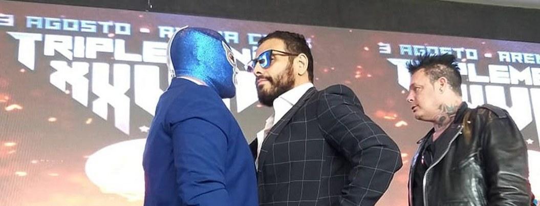Blue Demon  y Wagner se juegan más que máscara y cabellera