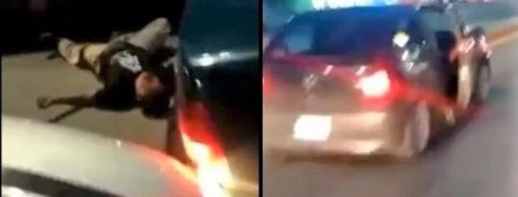 Por intentar huir de accidente golpean y le pasan auto encima a conductor