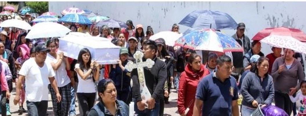 Vecinos organizan funeral de Teresita, la niña asesinada por su abuela