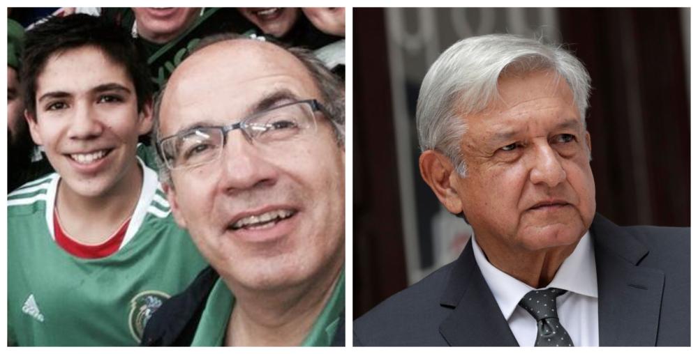 Hijo de Calderón toma revancha y se burla de AMLO   FOTOS