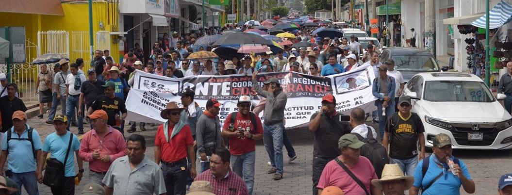 CNTE protestará durante aniversario de terremotos en Oaxaca