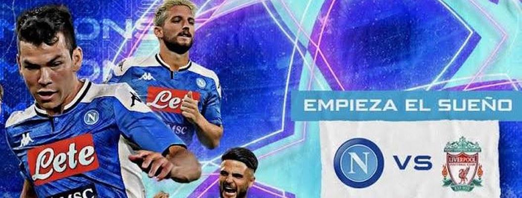 """""""Chucky"""" Lozano inicia la Champions como titular en el Napoli"""