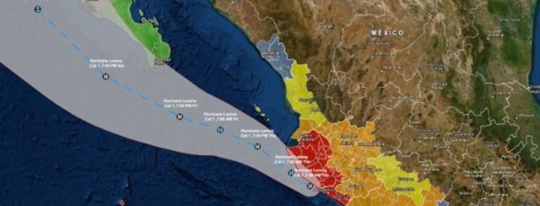 Lorena vuelve a convertirse en huracán; va rumbo a Cabo San Lucas