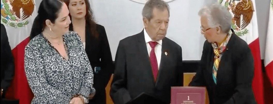 Secretaria de Gobernación entrega primer informe de AMLO al Congreso