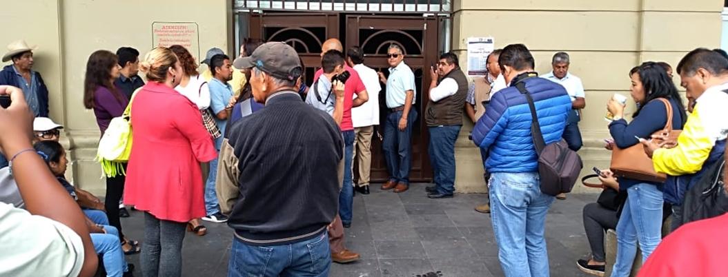 SUSPEG toma el Ayuntamiento de Chilpancingo; Gaspar les debe 6 mdp