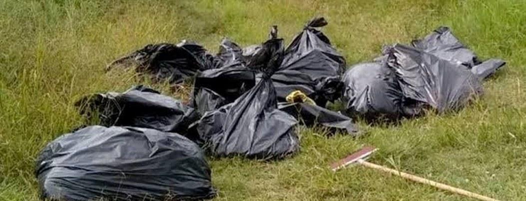 Hallaron 17 bolsas con restos humanos en el municipio de Tala, Jalisco