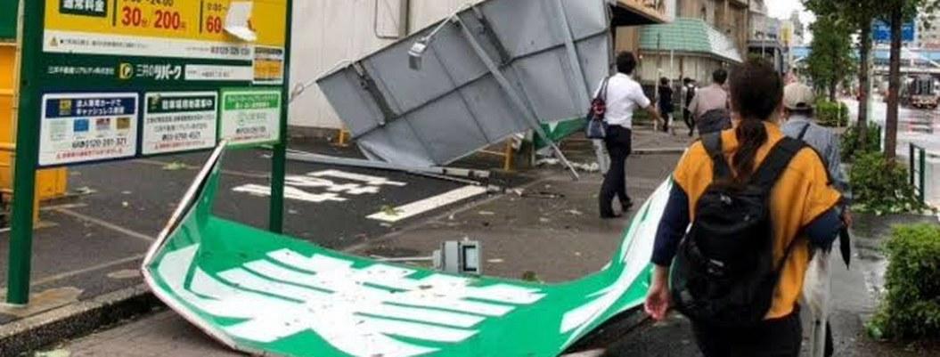 Un millón de viviendas se quedan sin luz por tifón en Japón