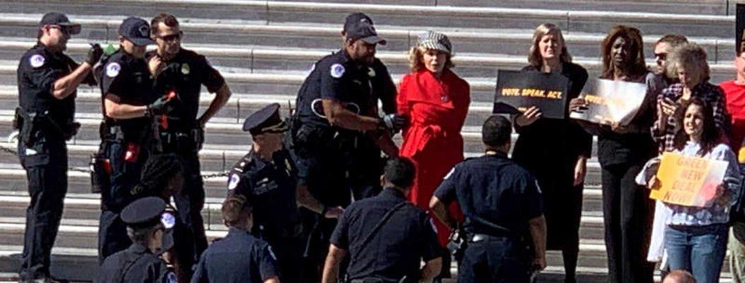 Jane Fonda narra detención tras protesta ambientalista