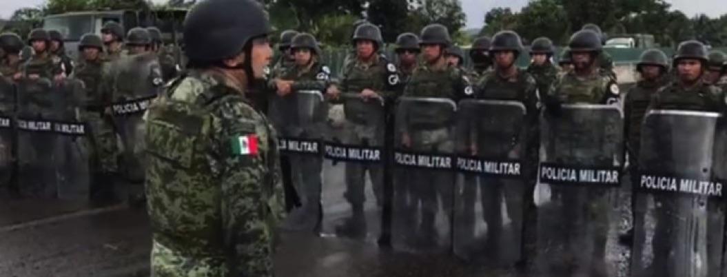 Revelan video de mando militar arengando contra migrantes
