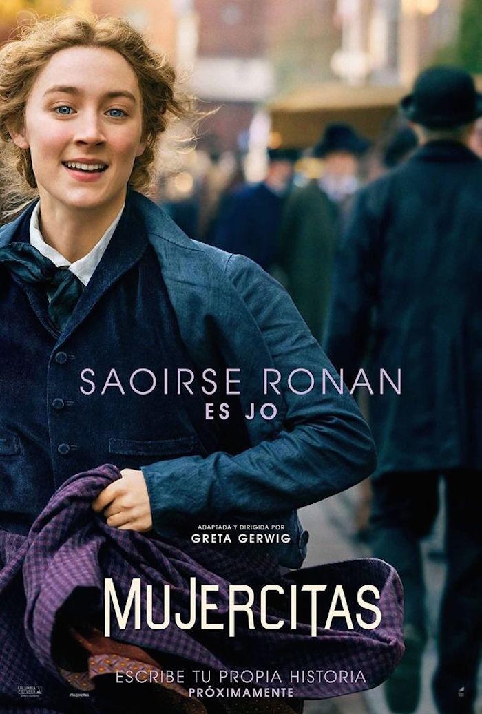 Saoirse Ronan da vida a Jo, es la protagonista.