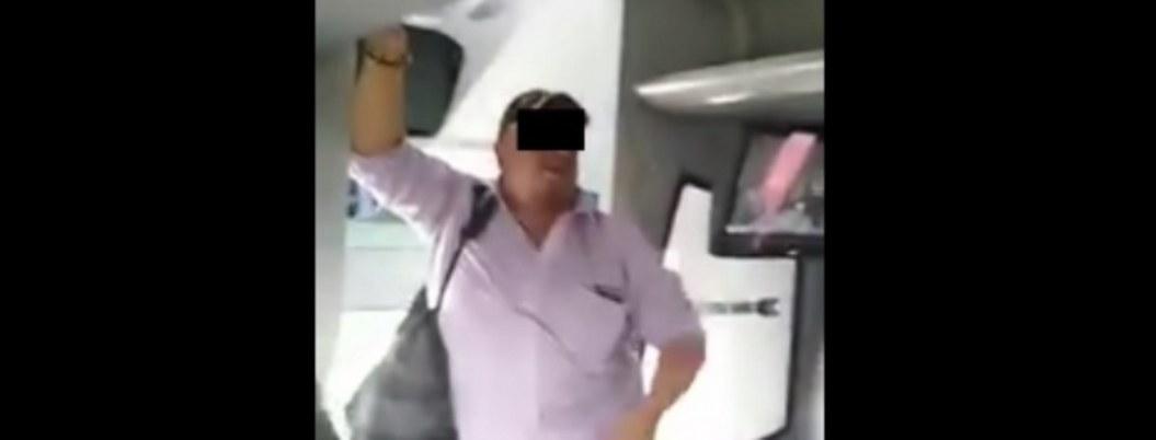 Pasajeros enfrentan a hombre que toqueó a mujer dormida en autobús