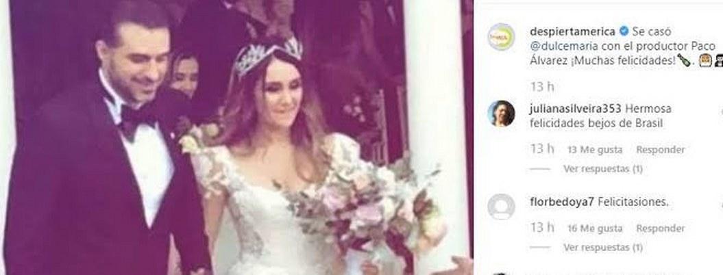 Dulce María se casa; filtran imágenes de su boda
