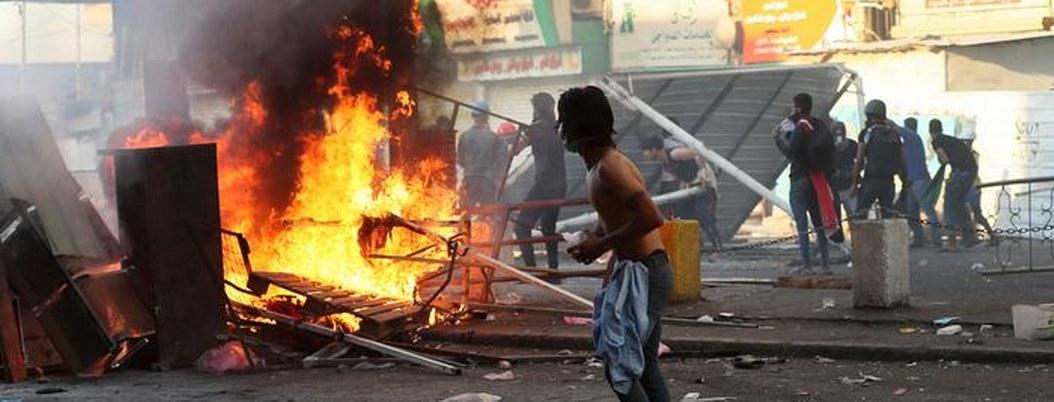 Jornada de violentas protestas en Bagdad deja 2 muertos