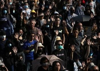 Ancianos y jóvenes protestan en Hong Kong 1