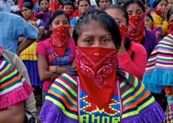 Mujeres zapatistas participaron en el paro del 9M 1