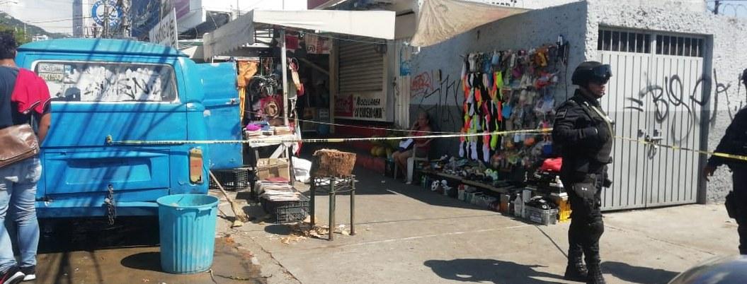Asesinan a comerciante en la zona de hospitales de Acapulco