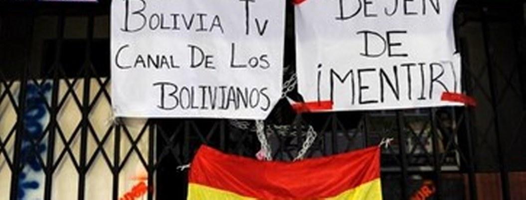 Atacan instalaciones de medios de comunicación en Bolivia