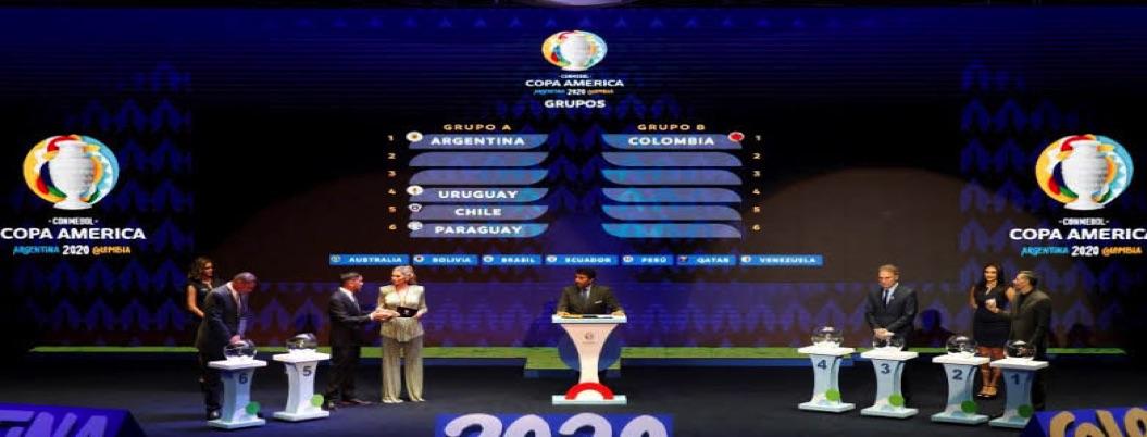 Listos los grupos de la Copa América 2020
