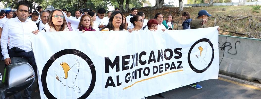Denigran a Calderón y EPN en Caminata por la Paz