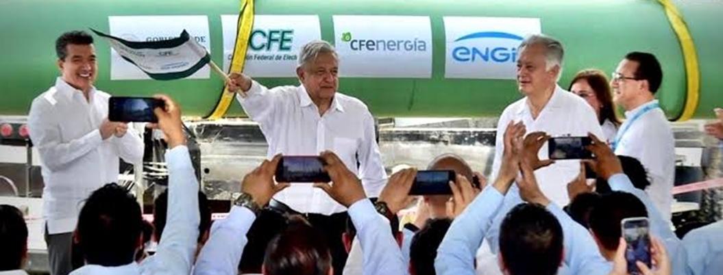Yucatán tendrá seguridad energética con gasoducto, afirma Obrador