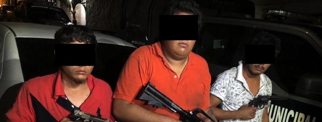 Capturan a tres por realizar disparos en zona céntrica de Acapulco