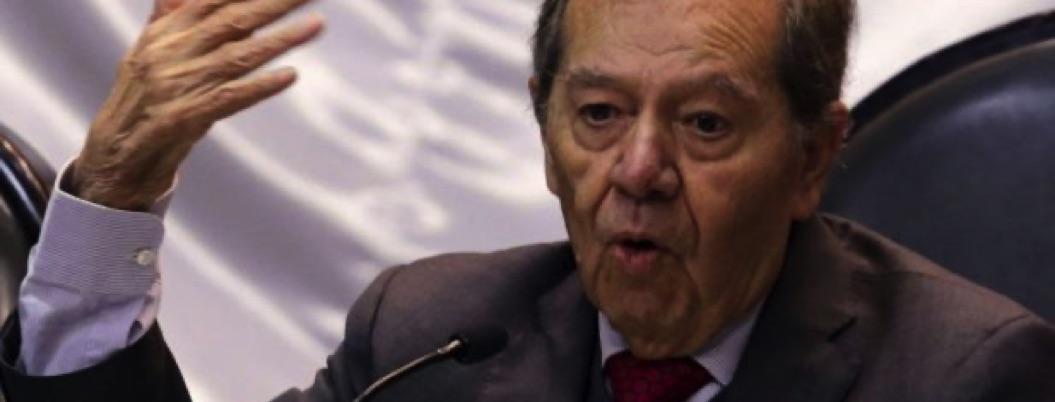 Muñoz Ledo ahora va contra Trump: usa frontera para su campaña