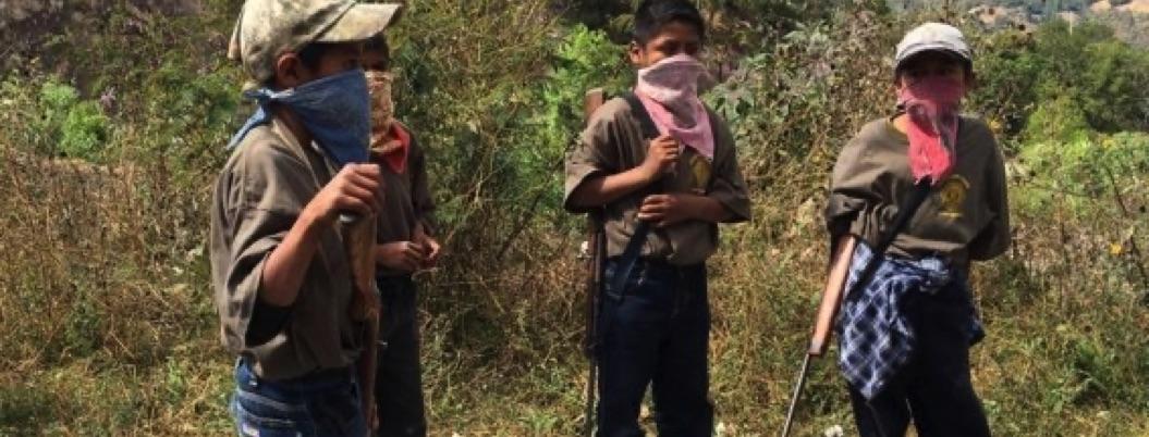 Vuelven a clases los niños armados de la CRAC